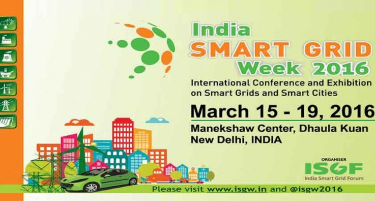 2nd India Smart Grid Week 2016 to Discuss on India's Efficient Energy Needs