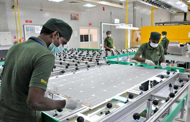 manufacturing of solar panels
