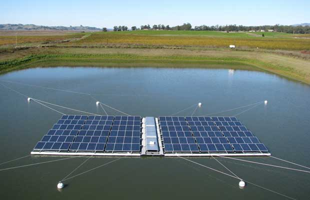 5kWp floating Solar PV plant getting at NTPC