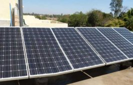First roof top solar energy unit setup by a local Sankar Rao inaugurated at Babametta, Andhra Pradesh