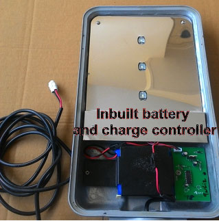 Solar streetlight with inbuilt lithium ion battery