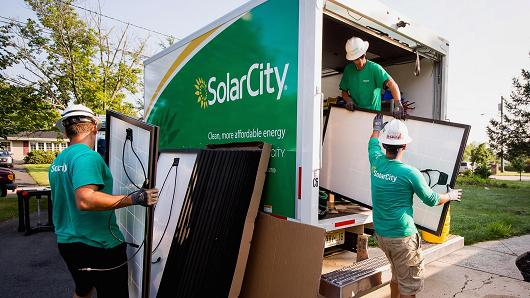 SolarCity the solar panel manufacturer company