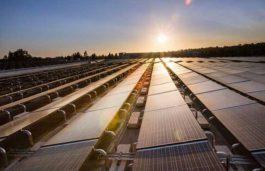 SunPower's four-megawatt solar power system is under construction at CSUF