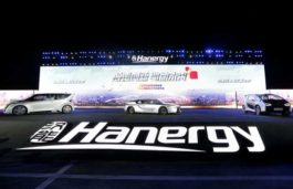 Hanergy introduces four solar powered cars