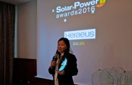 Heraeus bags Solar + Power Award 2016