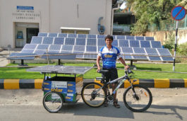 IIT Bombay graduate Sushil Reddy covers 7000+ kms on solar powered electric bicycle