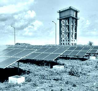 solar power plant within its campus