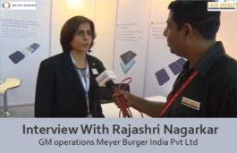 Interview With Rajashri Nagarkar GM operations Meyer Burger India Pvt Ltd