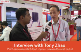 Interview with Tony Zhao, PhD-Chairman Assistant, Chief Engineer- Jolywood Sunwatt Co. Ltd.