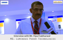 In a live Rendezvous with Mr. Vipul Sabharwal, MD, Luminous Power Technologies