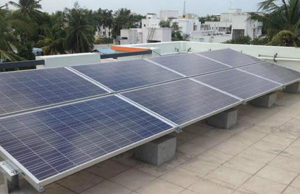 solar power installed