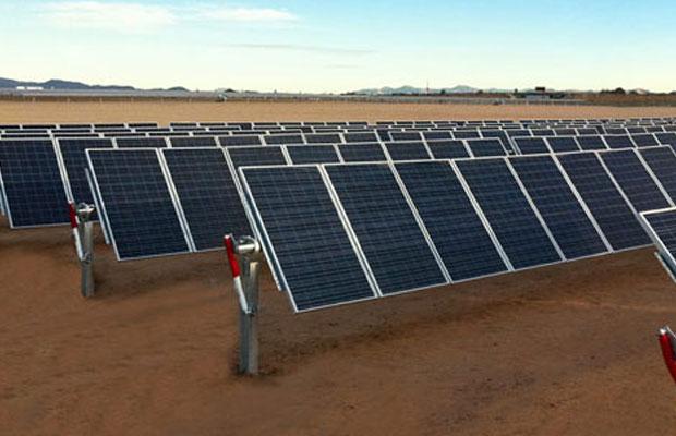 solar tracker power plant