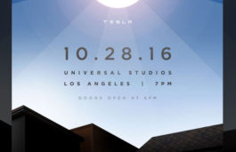 "Tesla to live- stream its "" solar roof "" event from Universal Studios on 28th October 25, 2016"