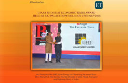 Ujaas receives Economic Times Best Infrastructure Brand 2016 Award