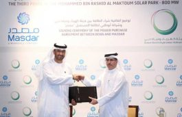 DEWA signs PPA with Masdar for third phase of the Mohammed bin Rashid Al Maktoum Solar Park