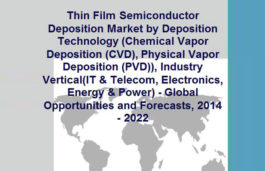 Thin film semiconductor deposition market to garner $22 billion by 2022: Research and Markets