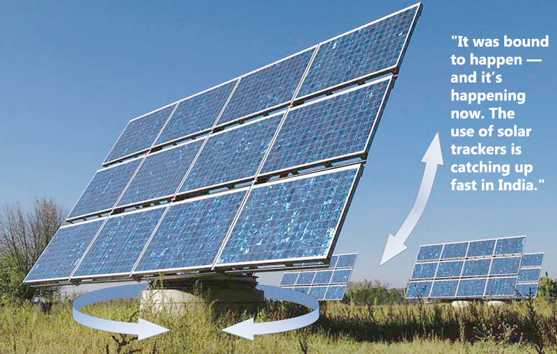 solar trackers is catching up fast in India