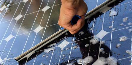 MAINTAINING AND CLEANING THE SOLAR PANELS