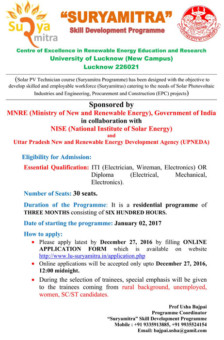 solar training programme
