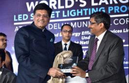 Piyush Goyal dedicates World's Largest LED Street Lighting Programme to the Nation