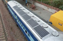 Southern Railway trial runs Solar Panels fitted Coach in Salem
