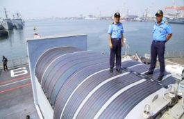 Solar Power System Installed on Indian Navy's Survey Vessel INS Sarvekshak