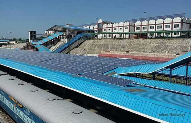The Historic Hyderabad Deccan Railway Station installed with Rooftop Solar Power Plant