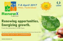 UBM India announces the second edition of RenewX, starts from April 7 at Hitex in Hyderabad