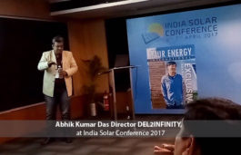 Abhik Kumar Das Director DEL2INFINITY, at India Solar Conference 2017