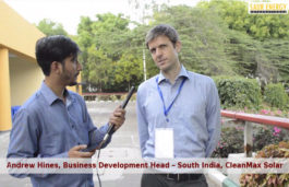 Exclusive Interview with Andrew Hines, Business Development Head – South India, CleanMax Solar