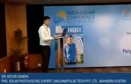 Dr. Keyur Gandhi PHD Solar Photovoltaic Expert Machinepulse Tech pvt Ltd. Mahindra Susten