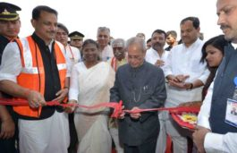 President Mukherjee Inaugurates the 44 Kms Deoghar – Basukinath Solar Street Light Project