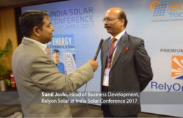 Sunil Joshi, Head of Business Development, Relyon Solar at India Solar Conference 2017