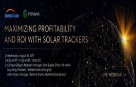 Arctech Solar Partners with IHS Markit for a Live Tracker Webinar on August 30