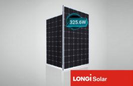 LONGi Solar's 60 cell Hi-MO1 module achieves power output of 325.6W