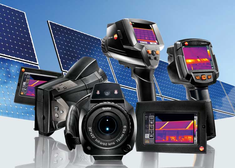 Solar Panel and Testo Thermal Imagers