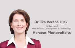 Viz-A-Viz with Dr.Ilka Verena Luck, Global Head, New Product Development & Technology, Heraeus Photovoltaics
