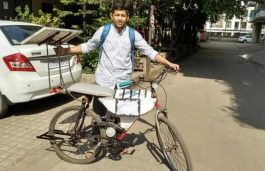 Teenage Engineering Student from Pune Designs Solar-Powered Bicycle