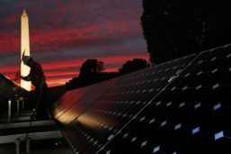 Solar Power is Utilized to Illuminate Transport Covers During the Evening
