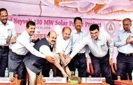 Coal Secretary Inaugurates 130-MW Solar Power Plant of NLC in Tamil Nadu