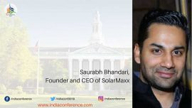 Saurabh Bhandari to Speak At The India Conference, Harvard Business School, Boston, USA