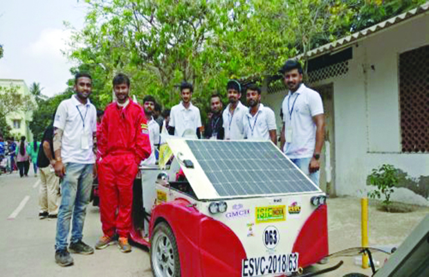 Solar-Electric Car Designed by GITS Students Ranked 5th in India