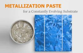 Metallization Paste for a Constantly Evolving Substrate