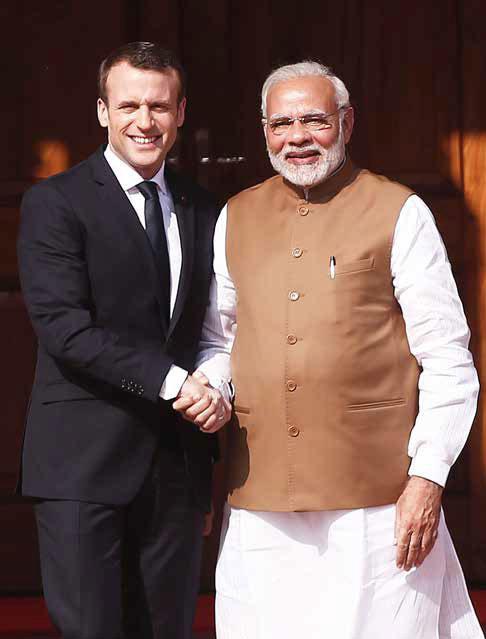 PM Narendra Modi and President of France Francois Hollande