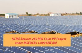ACME Secures 250 MW Solar PV Project under MSEDCL's 1,000 MW Bid