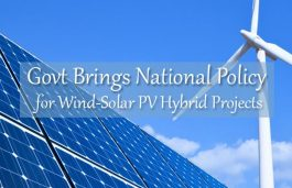 Govt Brings National Policy for Wind-Solar PV Hybrid Projects