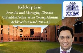 CleanMax Founder Kuldeep Jain Gets Young Alumni Achiever's Award from IIM Ahmedabad