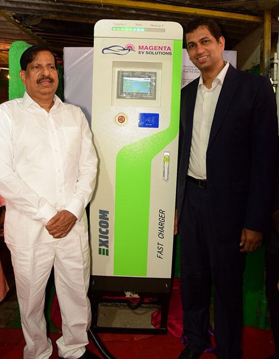 Magenta Power Solar Powered EV Charging Station