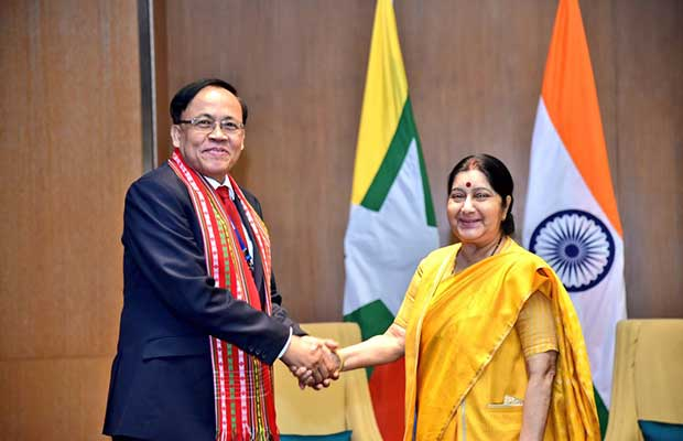 Myanmar with Sushma Swaraj