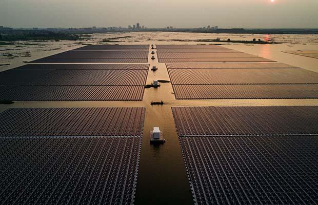 Rihand Dam solar project